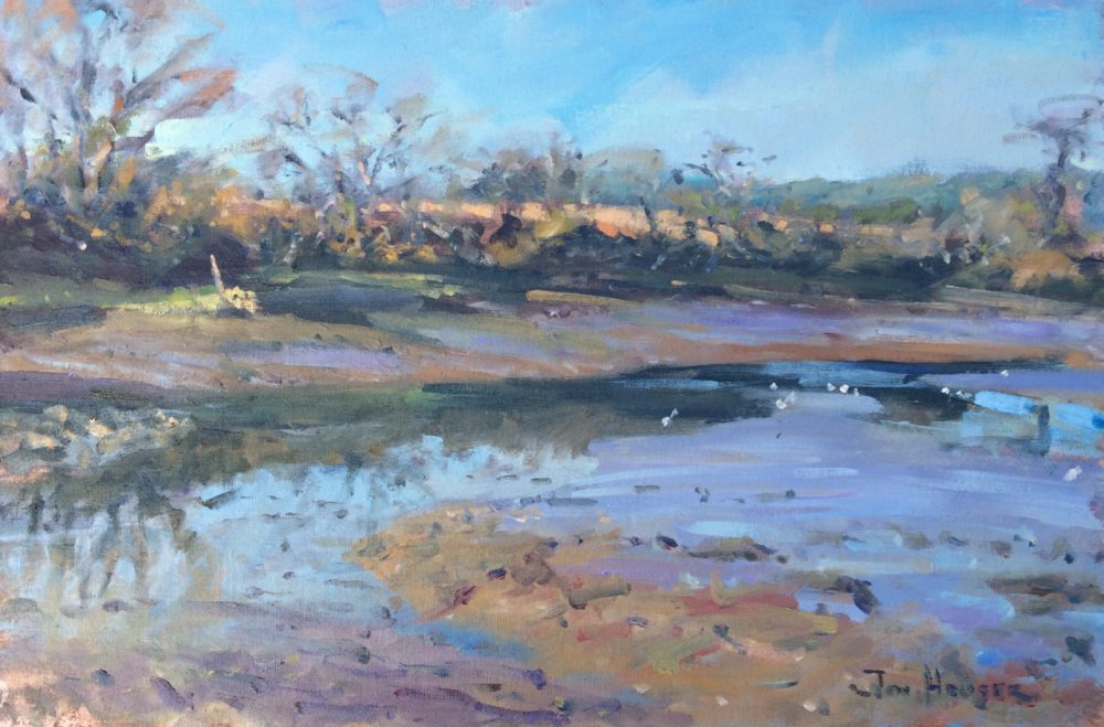 Estuary Tranquillity at Carew is an original painting by Jon Houser