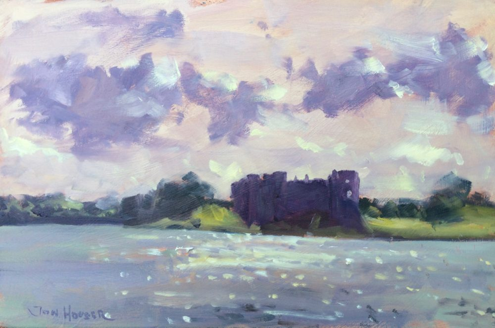 Into the Light, Carew Castle is an original painting by Jon Houser