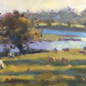 Late Evening above Carew River is an original painting by Jon Houser