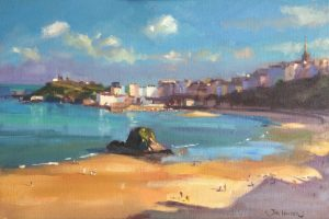 Later Summer Evening at Tenby is an original painting by Jon Houser