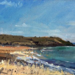 Manorbier August is an original oil painting by Jon Houser