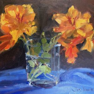 Nasturtiums is an original flower painting by Jon Houser