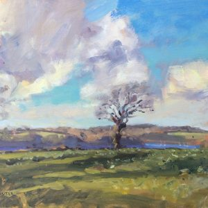 New Shipping Landscape above Carew River is an original oil painting by Jon Houser