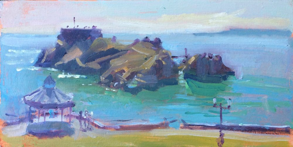 St Catherines Island Tenby is an original oil painting by Jon Houser