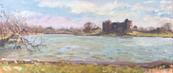 Across the Millpond, Carew is an original oil painting by Jon Houser