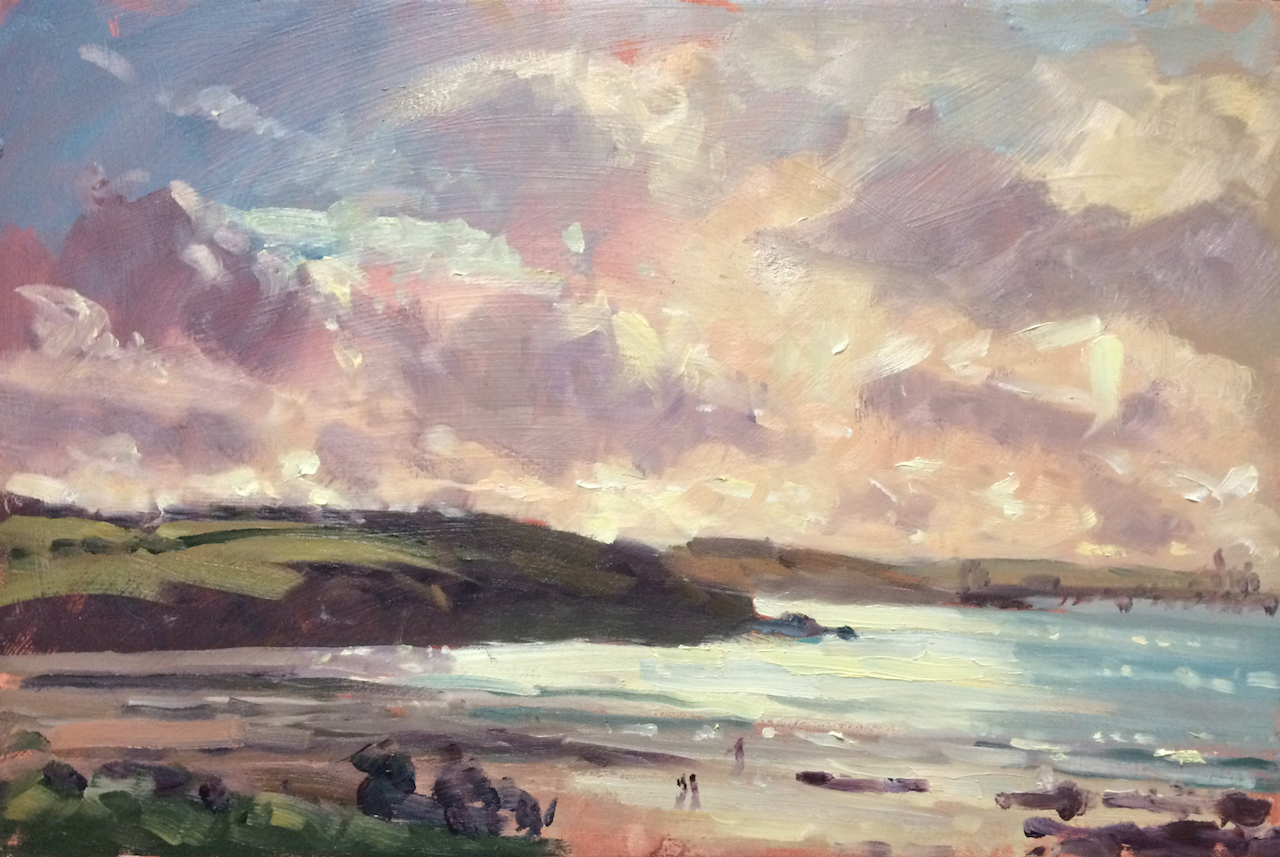 Autumn Stroll at Sandy Haven original oil painting of Sandy Haven by Jon Houser