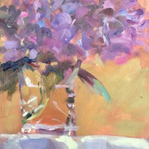 Hydrangea's in a Glass is an original painting by Jon Houser