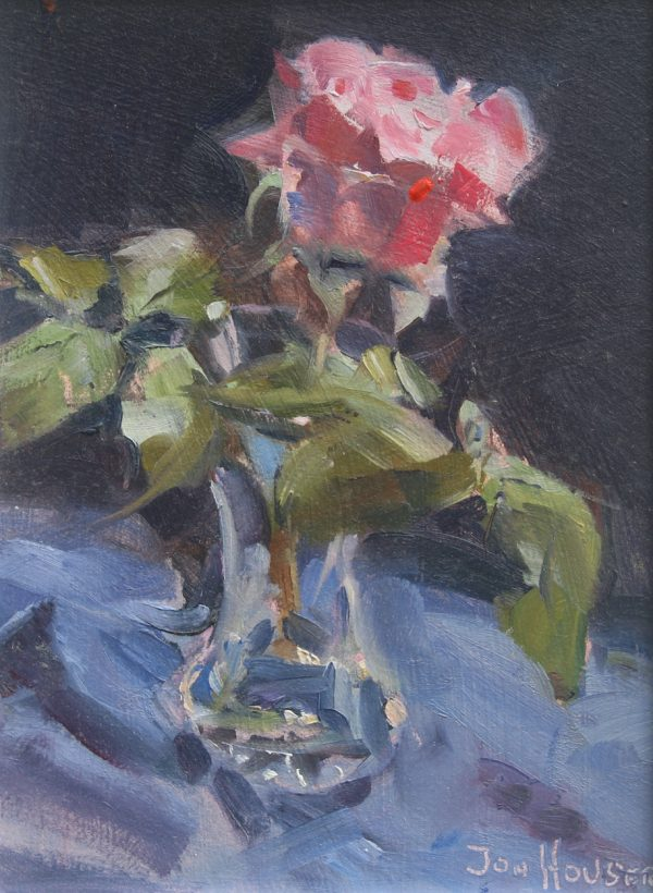 James Galway Rose in a Glass Vase by Jon Houser