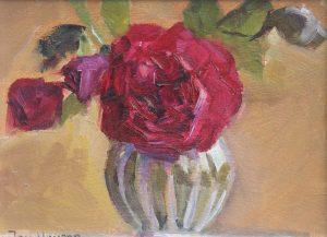 Tess of Dúrbervilles Rose in a Vase original on painting by Jon Houser