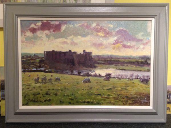 carew winter light framed painting