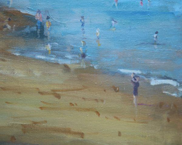 Evening Beach Shadows at Tenby detail 2