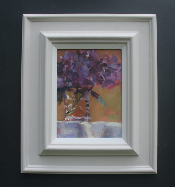 Hydrandeas in a Glass framed oil painting