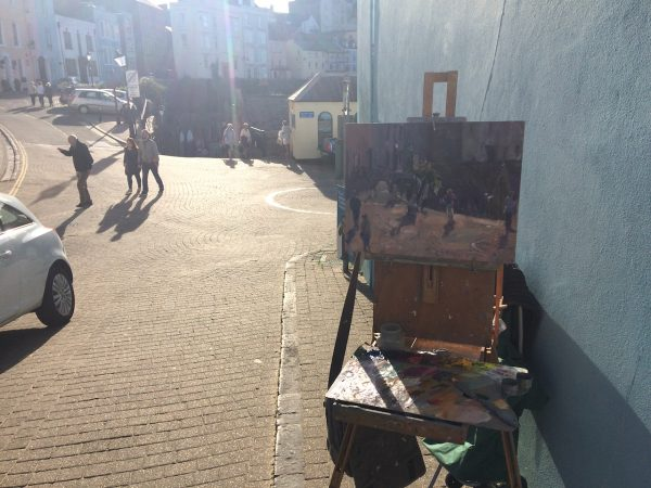 painting easel at tenby street