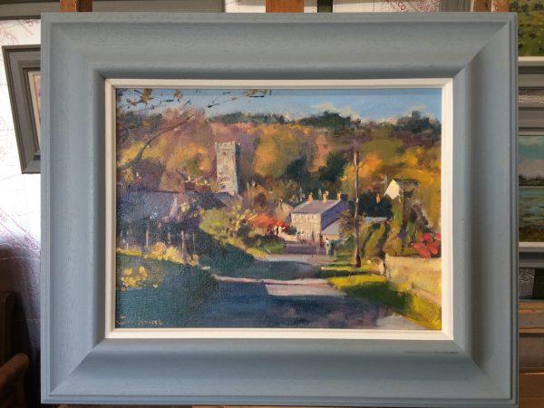 lawrenny oil painting framed