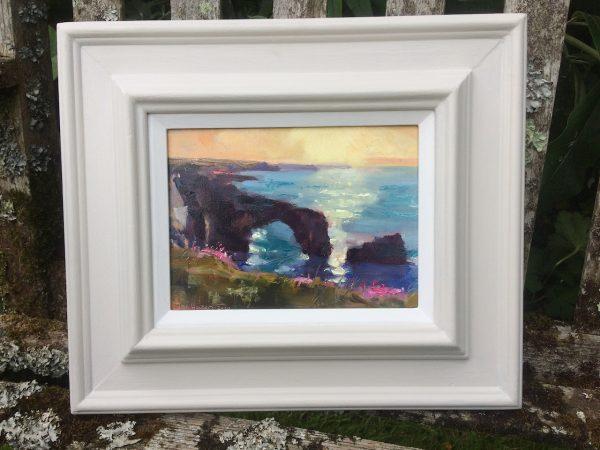 Morning Light at the Green Bridge of Wales framed