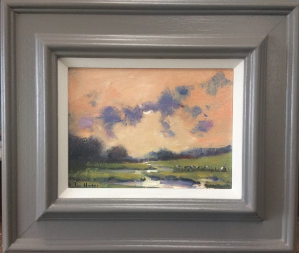 Carew River Landscape Framed