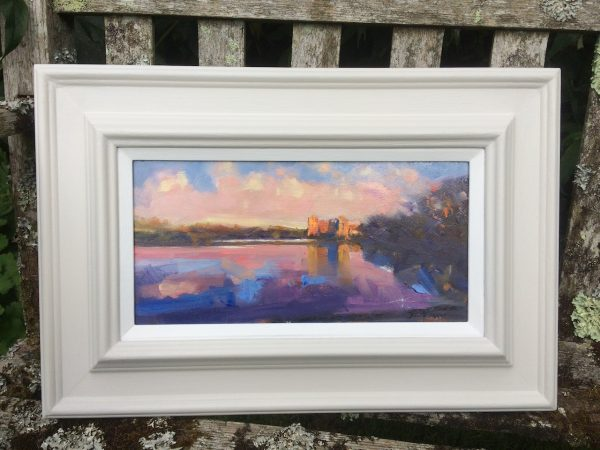 Late Evening Light at Carew Castle framed