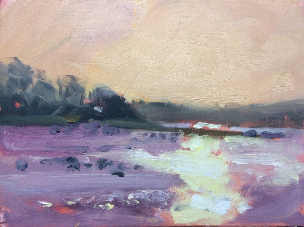 Cosheston Pill Low tide painting by Jon Houser