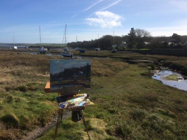 painting on location at Angle