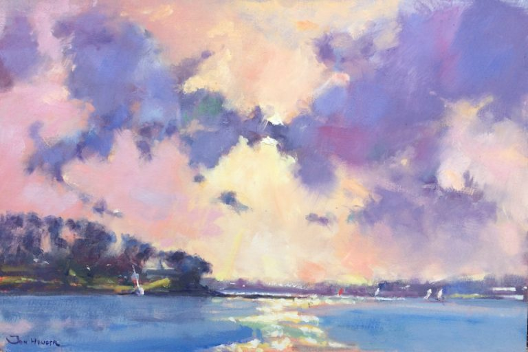 Morning Light at Cosheston Pill painting by Jon Houser