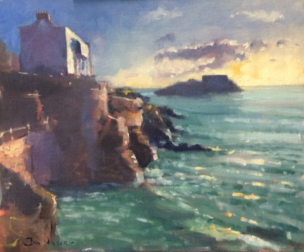 Tenby Early Morning Seascape oil painting