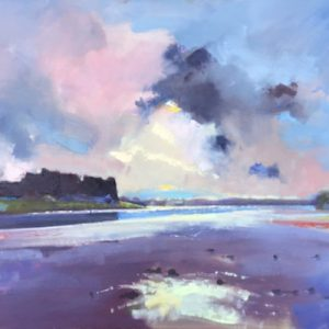 Evening Light at Carew Castle original oil painting by Jon Houser