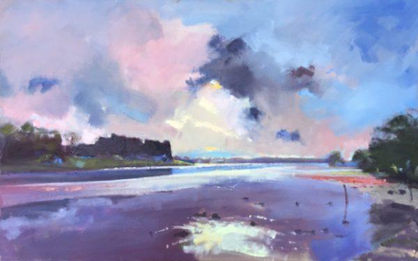 Evening Light at Carew Castle original oil painting by Jon Houser