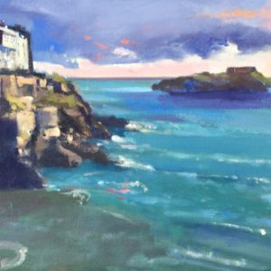 New Day Dawning at Tenby is an oil painting of Tenby
