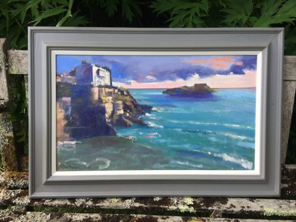 New Day Dawning at Tenby - oil painting by Jon Houser