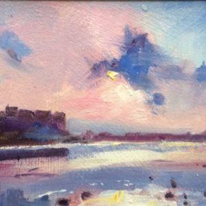 Study for Evening Light at Carew - an original oil painting by Jon Houser