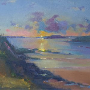 Sunset at Thorn Island is an original oil painting by Jon Houser