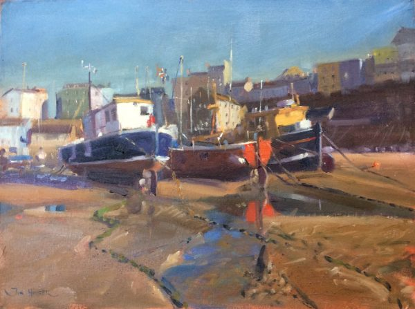 Tenby Harbour Boats is an original oil painting by Jon Houser