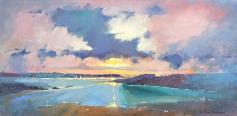 West Angle Bay Sunset original oil painting by Jon Houser