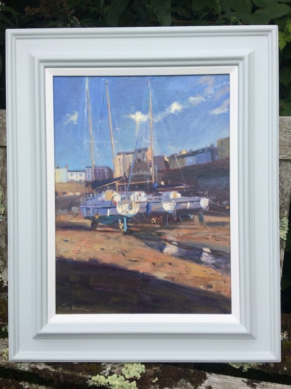 Tenby Yacht painting in its frame
