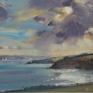 Sandy Haven Seascape is an original oil painting by Jon Houser