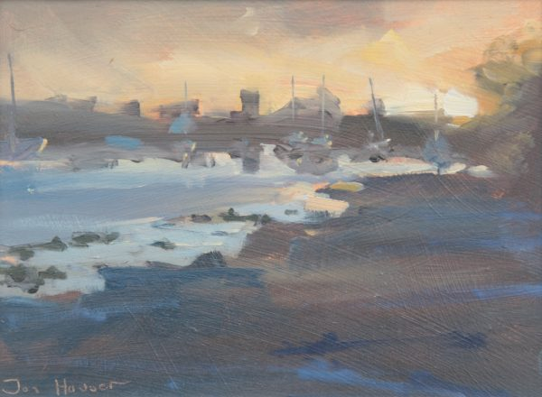 Sunset at Angle Church is an original oil painting by Jon Houser