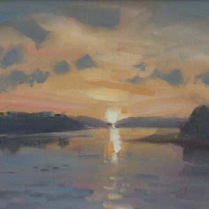 Carew River Sunset is an original oil painting by Jon Houser