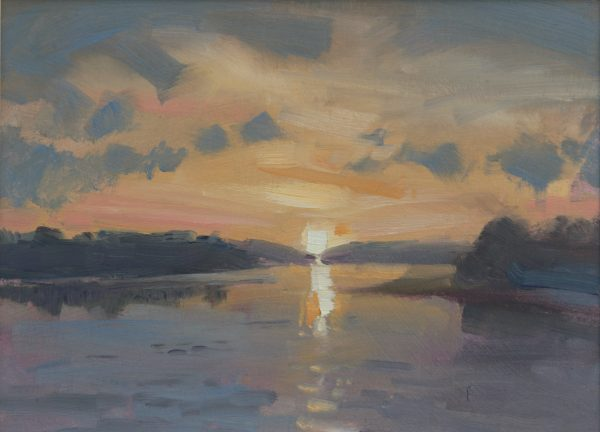 Carew River Sunset is an original oil painting by Jon Houser