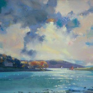 Cleddau Repose is an original oil painting by Jon Houser