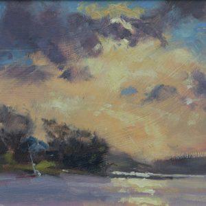 Cosheston Pill oil sketch is an original oil painting by Jon Houser
