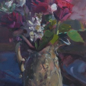 Stocks and Roses is and original oil painting by Jon Houser