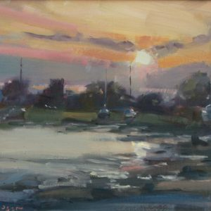 Sunset at Angle is an original oil painting by Jon Houser