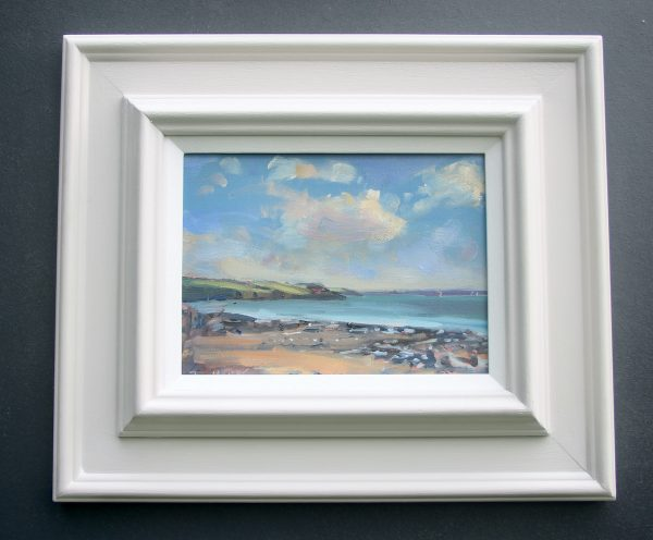 Sandy Haven oil sketch framed