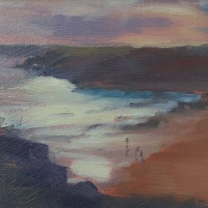Glistening Sea at Barafundle is an original oil sketch by Jon houser