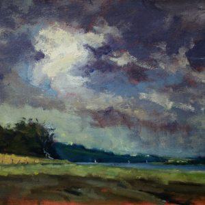 Daugleddau Estuary from Garron is an original oil painting by Jon Houser