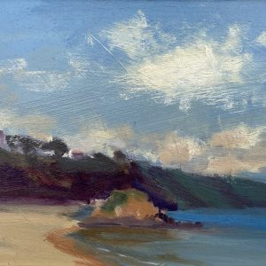 Tenby Seascape with Goscar Rock original oil painting by Jon Houser