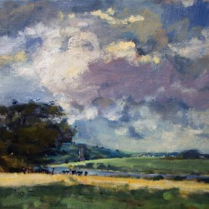Towards the Cresswell River from Garron is an original oil painting by Jon Houser